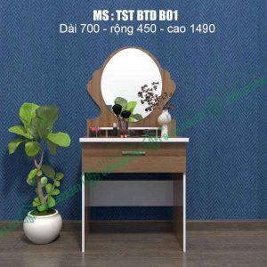 Bàn trang điểm nhựa Đài Loan TSTBTDB01