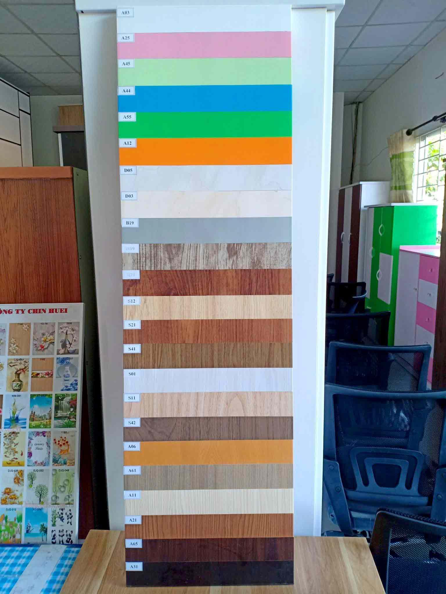 Bảng màu nội thất nhựa Đài Loan TST Đà Nẵng