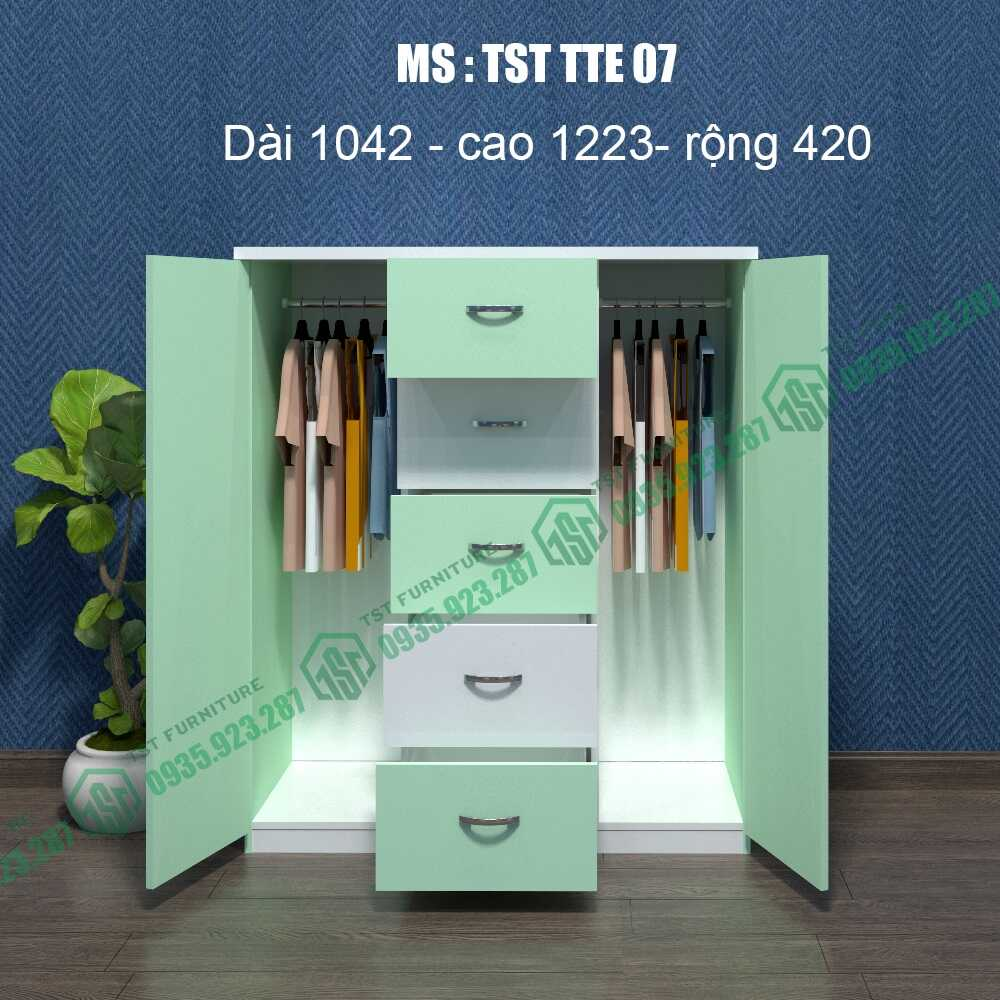 Tủ quần áo Trẻ em TST TTE07-3