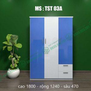 Tủ quần áo nhựa 3 cánh TST03A