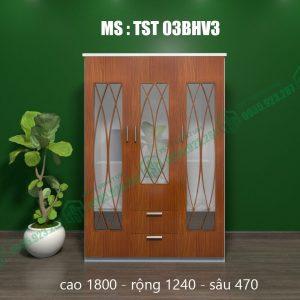 Tủ quần áo nhựa 3 cánh TST03BHV3