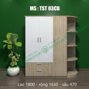 Tủ quần áo nhựa 3 cánh TST03CB