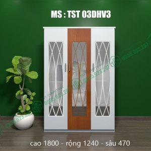 Tủ quần áo nhựa 3 cánh TST03DHV3