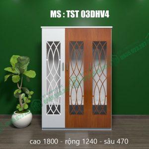 Tủ quần áo nhựa 3 cánh TST03DHV4