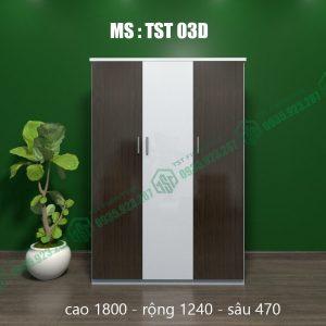 Tủ quần áo nhựa 3 cánh TST03D