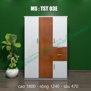 Tủ quần áo nhựa 3 cánh TST03E