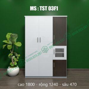 Tủ quần áo nhựa 3 cánh TST03F1