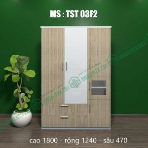 Tủ quần áo nhựa 3 cánh  TST03F2