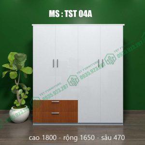 Tủ quần áo nhựa Đài Loan 4 cánh TST04A