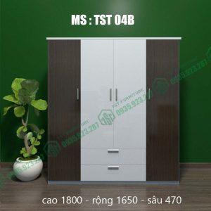 Tủ quần áo nhựa Đài Loan 4 cánh TST04B