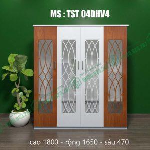 Tủ quần áo nhựa Đài Loan 4 cánh TST04DHV4