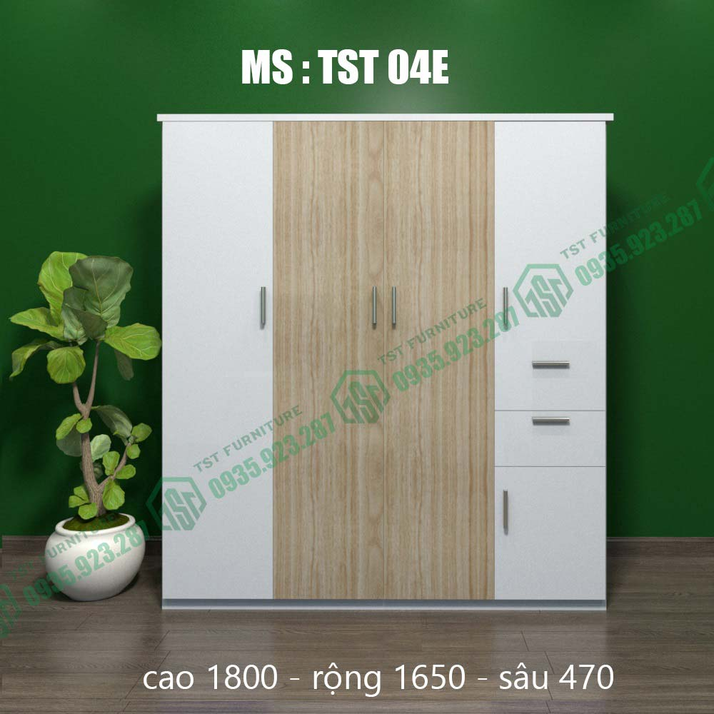 Tủ quần áo nhựa Đài Loan 4 cánh TST04E-3