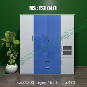 Tủ quần áo nhựa Đài Loan 4 cánh TST04F1