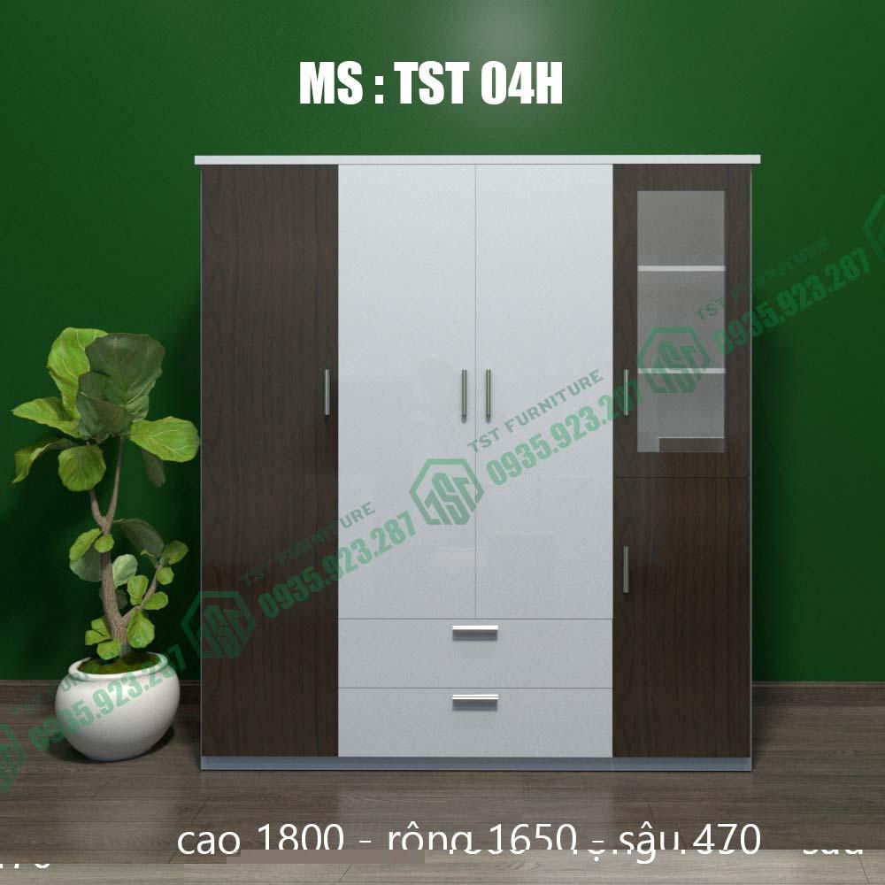 Tủ quần áo nhựa Đài Loan 4 cánh TST04H-1