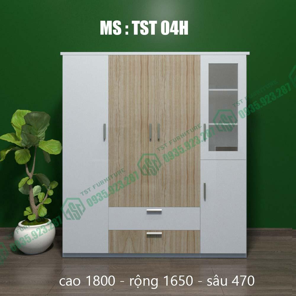Tủ quần áo nhựa Đài Loan 4 cánh TST04H-3