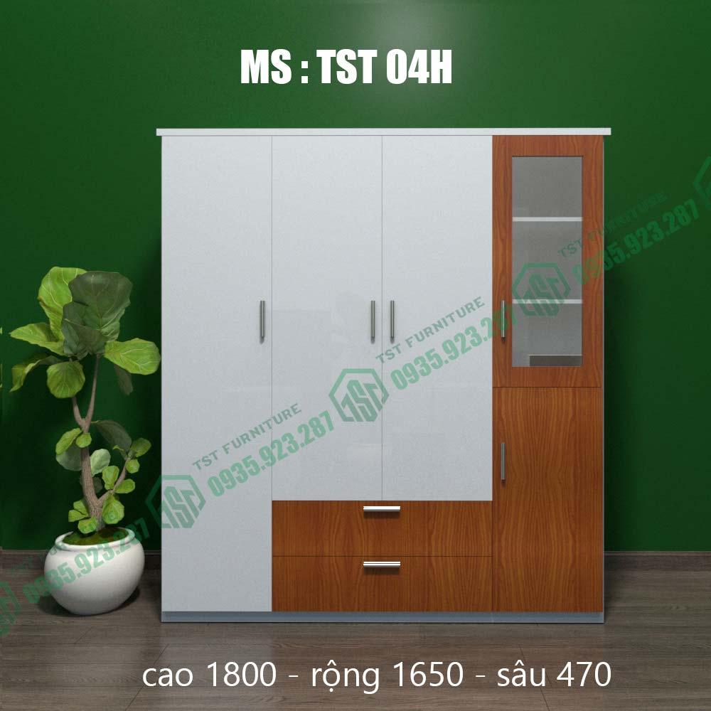 Tủ quần áo nhựa Đài Loan 4 cánh TST04H-4
