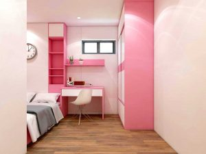 Trang trí phòng cho bé gái nhà chị Hoa