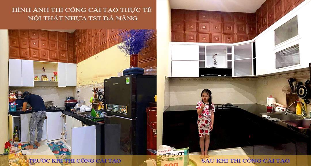 Cải tạo tủ bếp thực tế tại Đà Nẵng