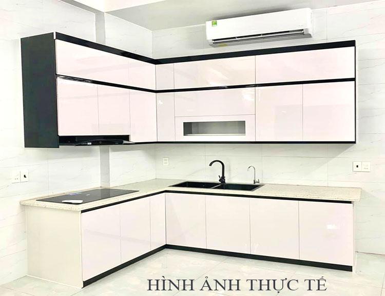Hình ảnh tủ bếp thực tế nhà chú Công