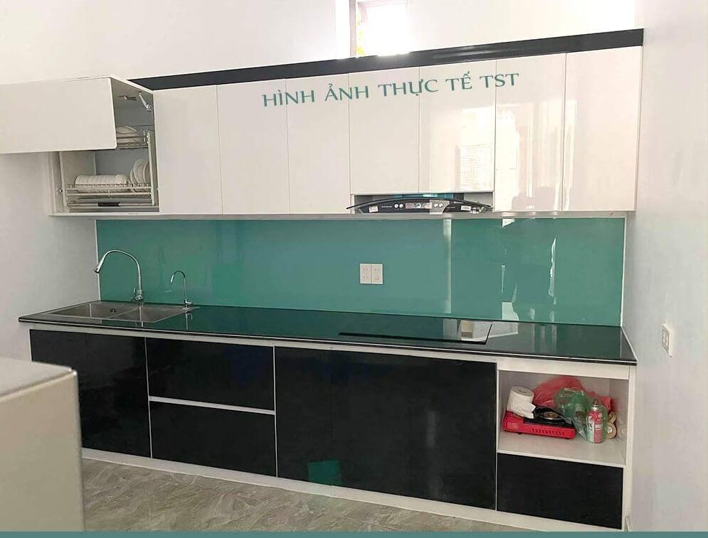 Mẫu đã thi công tủ bếp nhựa Chinhuei thực tế