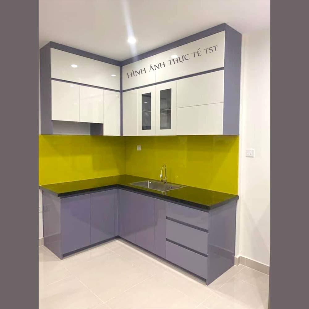 Thiết kế tủ bếp nhựa Chinhuei chu l cho nhà nhỏ TB19
