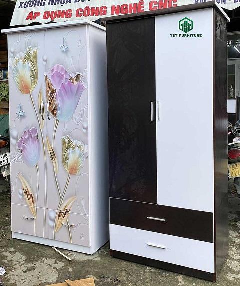 Tủ nhựa đựng quần áo Đài Loan 2 cánh 2 ngăn kéo tại đà nẵng