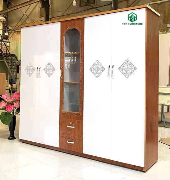 Tủ nhựa Chinhuei 5 cánh giá rẻ đà nẵng [Mẫu 2]