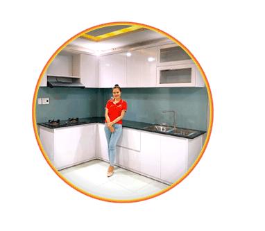 Thi Công Lắp Tủ Bếp Nhà Anh Trung