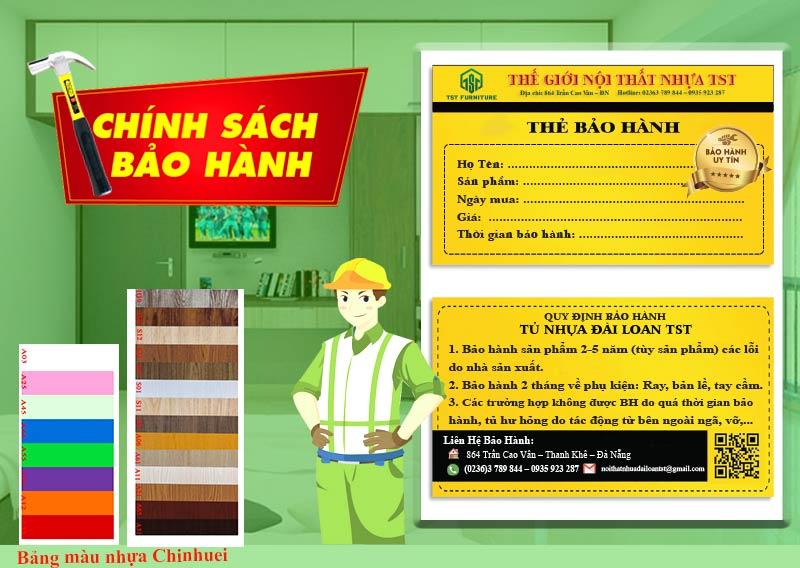 Chế độ bảo hành và dịch vụ CSKH Tủ Nhựa TST Tại Đà Nẵng