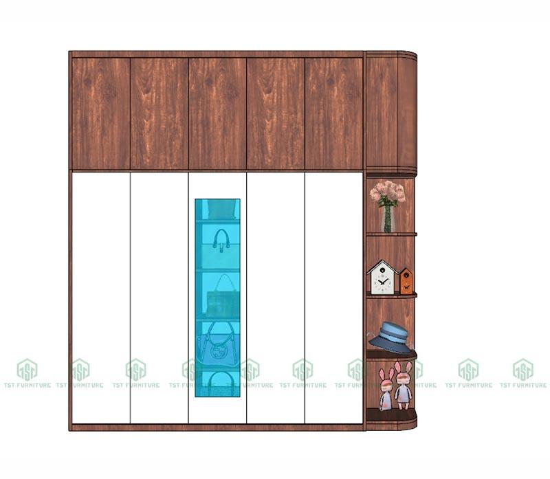 Đóng tủ quần áo 5 cánh có kệ theo yêu cầu tại Đà Nẵng (1)