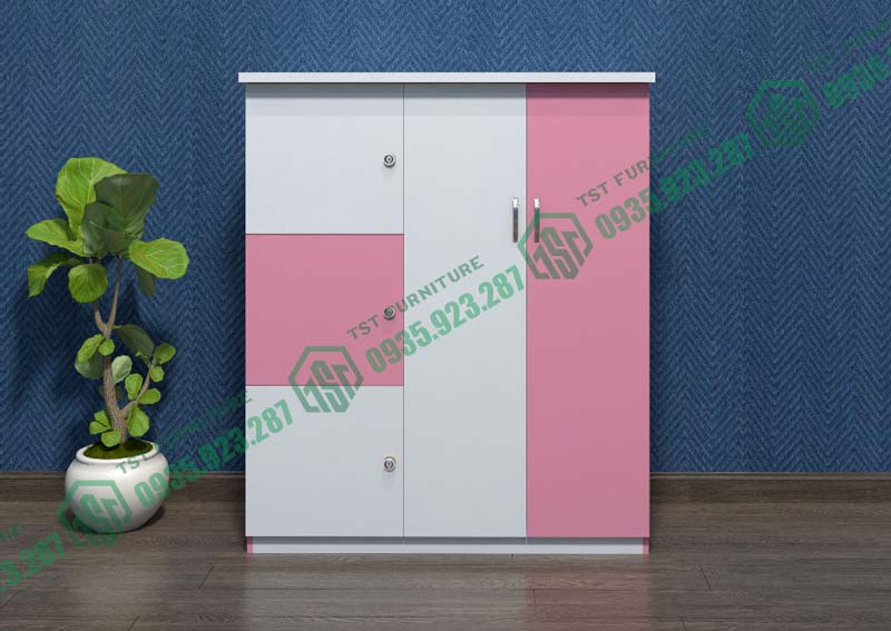 Mẫu tủ đựng đồ bằng nhựa Đài Loan 3 ngăn 2 cánh mở Tại Đà Nẵng