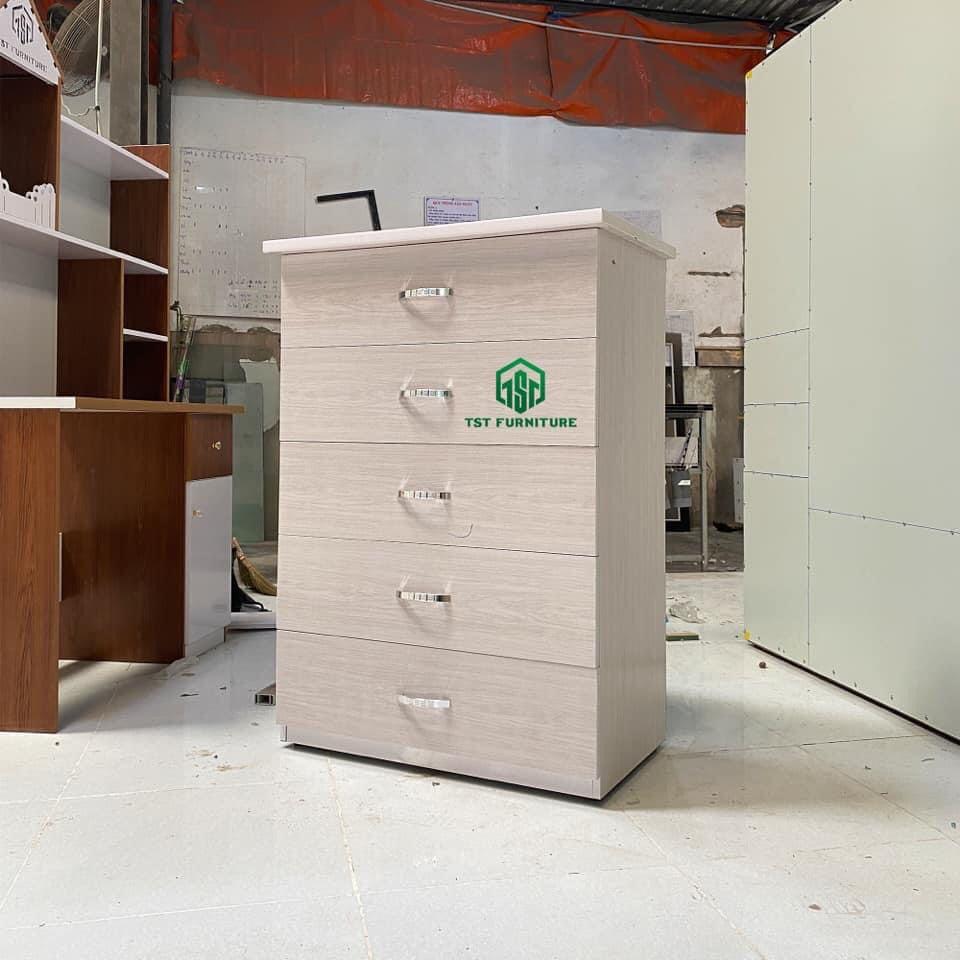 Mẫu tủ nhựa 5 ngăn kéo dành cho bé gái tại Đà Nẵng