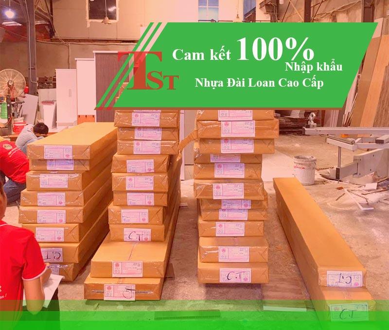 Nội Thất Nhựa TST cam kết nhập khẩu 100% nhựa Đại Loan Cao cấp