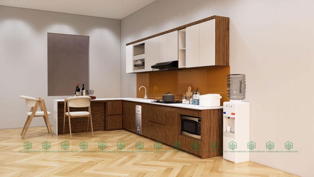 Thiết kế 3D tủ bếp Đà Nẵng