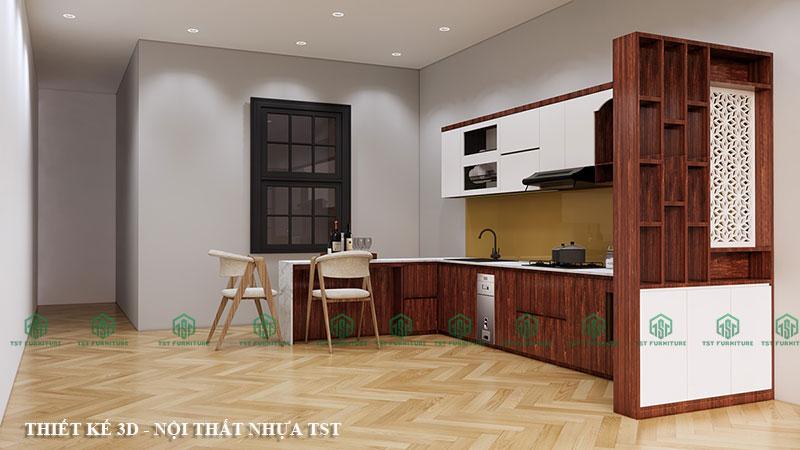 Thiết kế 3D tủ bếp theo yêu cầu