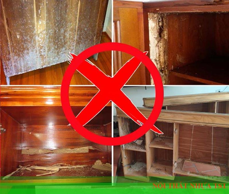 Tủ gỗ ván ép dễ bị mối mục