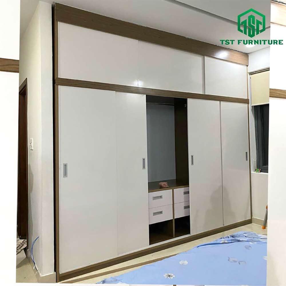Tủ quần áo cửa lùa 4 cánh cao cấp Đà Nẵng
