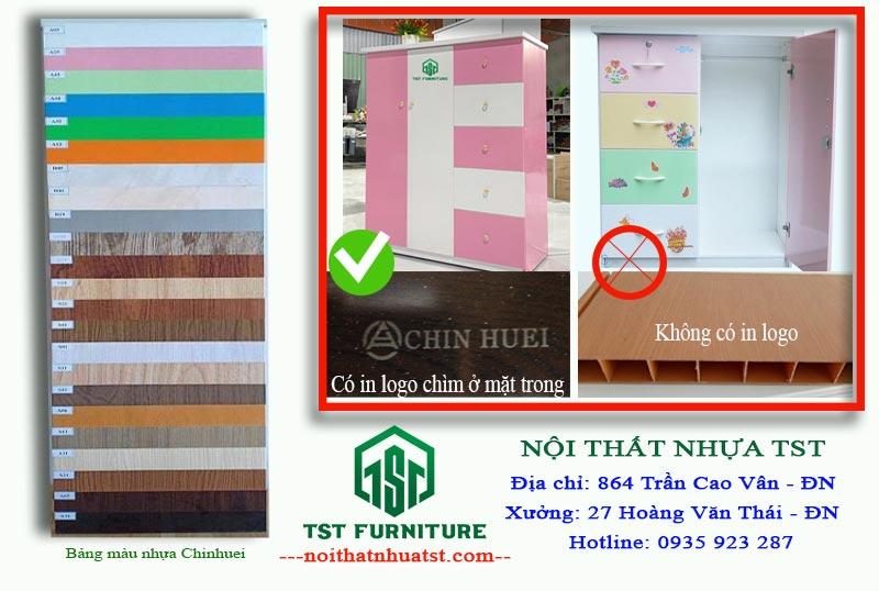 cách phân biệt tủ quần áo nhựa Đài Loan chính hãng với tủ nhựa thông thường kém chất lượng
