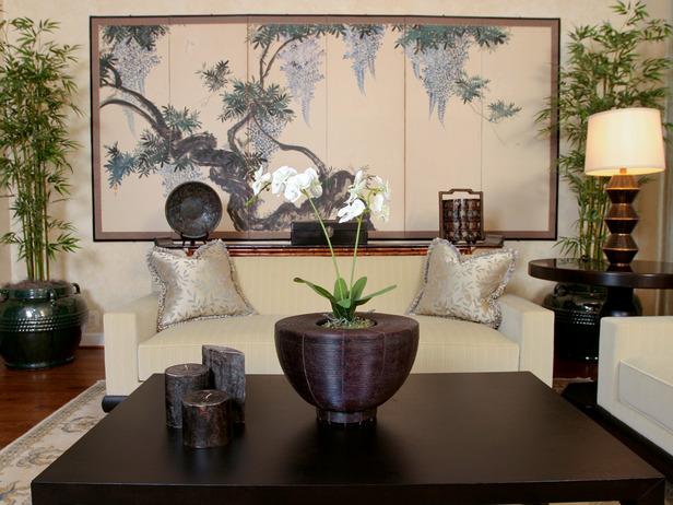mẫu thiết kế phòng khách cổ điển châu á đẹp