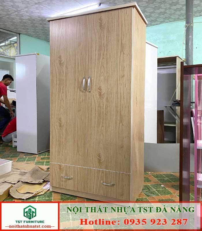 tủ nhựa giả gỗ 2 cánh 2 ngăn kéo Tại Đà Nẵng