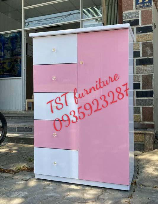 tủ quần áo nhựa cho bé gái 5 ngăn 1 cánh mở tại Đà Nẵng